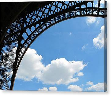 Eiffel Clouds Canvas Print