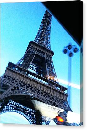 Eiffel In Motion Canvas Print