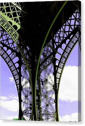 Eiffel Lace Canvas Print