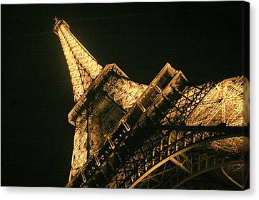 Canvas Print featuring the photograph Eiffel by Silvia Bruno