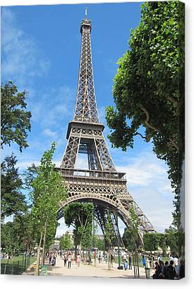 Canvas Print featuring the photograph Eiffel Tower - 1 by Pema Hou