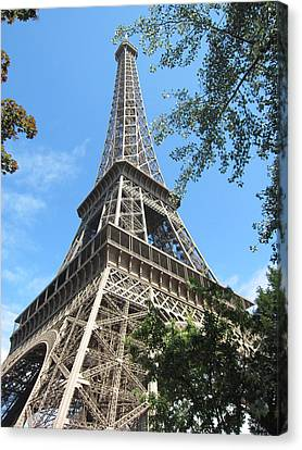 Canvas Print featuring the photograph Eiffel Tower - 2 by Pema Hou