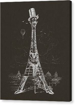 Eiffel Tower Canvas Print by Aged Pixel