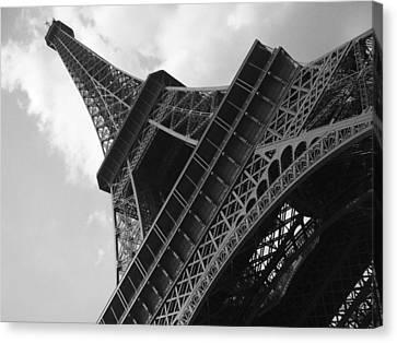 Eiffel Tower Canvas Print - Eiffel Tower Black And White by Alexander Fell
