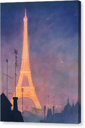 Eiffel Tower Canvas Print by Blue Sky
