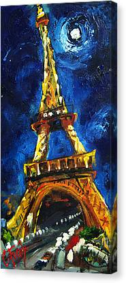 Eiffel Tower Canvas Print by Carole Foret