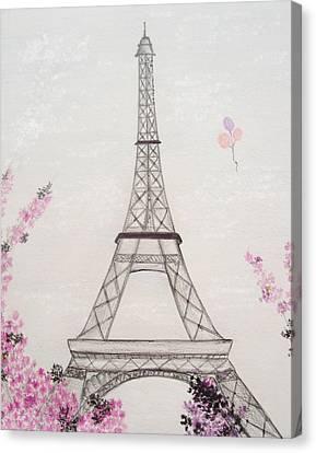 Eiffel Tower  Canvas Print by Christine Corretti