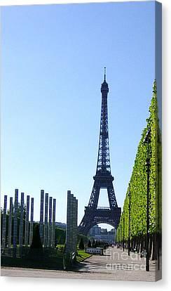 Canvas Print featuring the photograph Eiffel Tower by Deborah Smolinske