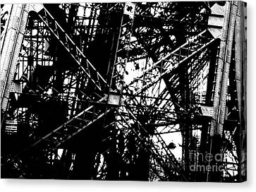 Canvas Print featuring the photograph Eiffel Tower Detail  by Joey Agbayani