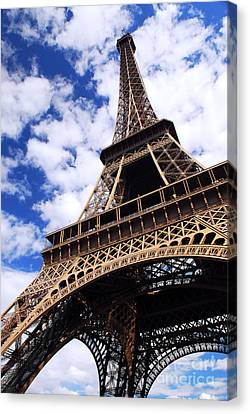 Architecture Canvas Print - Eiffel Tower by Elena Elisseeva