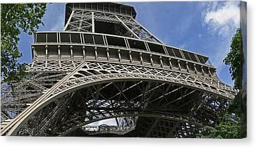 Eiffel Tower First Balcony Canvas Print by Gary Lobdell