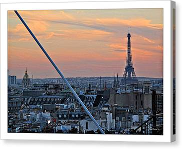 Eiffel Tower From Above Canvas Print by Joan  Minchak