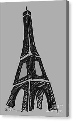 Eiffel Tower Graphic Canvas Print by Robyn Saunders
