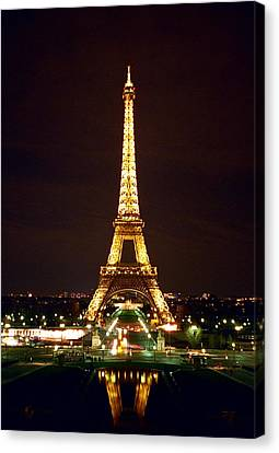 Eiffel Tower In Color Canvas Print by Heidi Hermes