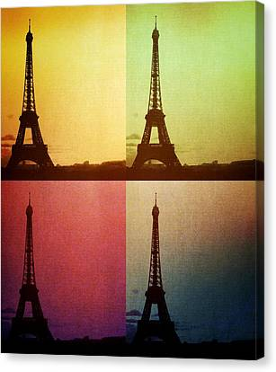Eiffel Tower In Sunset Canvas Print by Marianna Mills