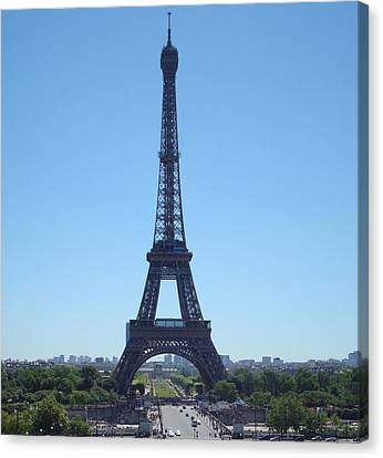 Canvas Print featuring the photograph Eiffel Tower by Kay Gilley