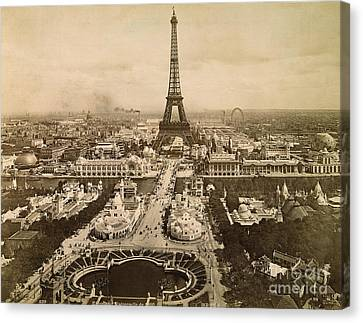Eiffel Tower, Paris, 1900 Canvas Print by Granger