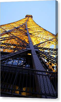 Eiffel Tower - Paris France - 01133 Canvas Print by DC Photographer