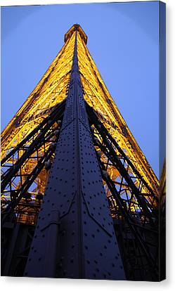 Eiffel Tower - Paris France - 01137 Canvas Print by DC Photographer