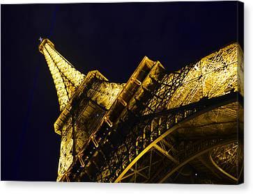 Eiffel Tower Paris France Side Canvas Print by Patricia Awapara
