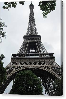 Canvas Print featuring the photograph Eiffel Tower by Pema Hou