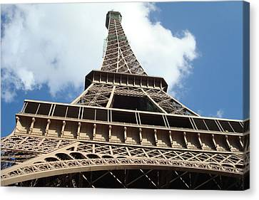 Canvas Print featuring the photograph Eiffel Tower Perspective by Kay Gilley
