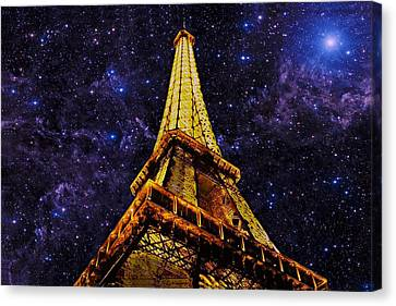 Canvas Print featuring the photograph Eiffel Tower Photographic Art by David Dehner