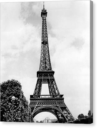 Eiffel Tower Reaches Upward. Canvas Print by Retro Images Archive