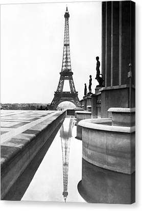 Trocadero Canvas Print - Eiffel Tower Reflection by Underwood Archives
