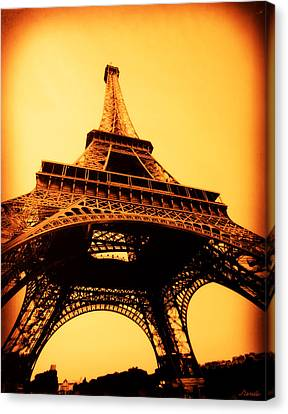 Canvas Print featuring the photograph Eiffel Tower by Renee Anderson