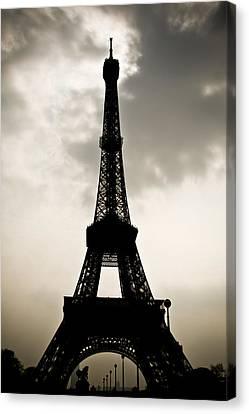 Eiffel Tower Silhouette Canvas Print by Nila Newsom