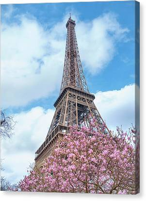 Eiffel Tower Spring Canvas Print by Cora Niele