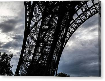 Canvas Print featuring the photograph Eiffel Tower Storm by Ross Henton