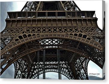 Canvas Print featuring the photograph Eiffel Tower - The Forgotten Names by Allen Sheffield
