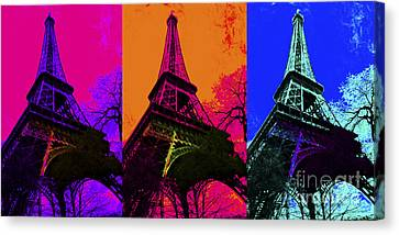 Eiffel Tower Three 20130116 Canvas Print by Wingsdomain Art and Photography