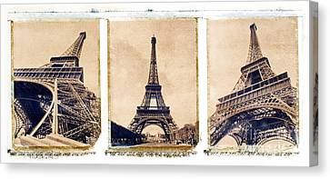 Eiffel Tower Canvas Print by Tony Cordoza