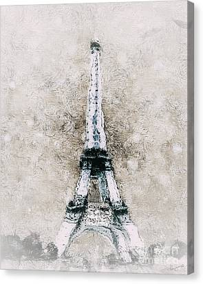 Eiffel Tower Wall Art Canvas Print