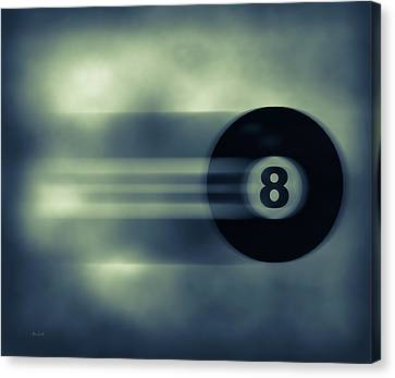 Eight Ball In Motion Canvas Print by Bob Orsillo