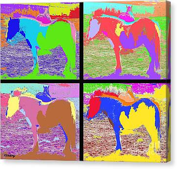 Eight Horses Canvas Print by Patrick J Murphy