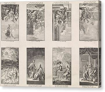 Eight New Testament Scenes On A Sheet, Jan Luyken Canvas Print