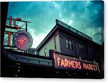 Eight Thirty Four At The Farmers Market Canvas Print by Brian Xavier