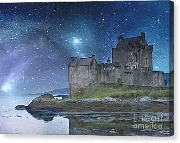 Europe Digital Art Canvas Print - Eilean Donan Castle by Juli Scalzi