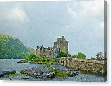 Eilean Donan Castle Textured 2 Canvas Print