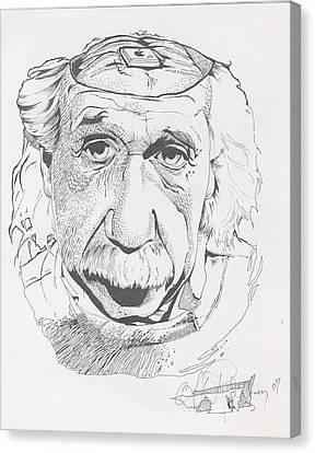 Einstein Canvas Print by Alex Rodriguez