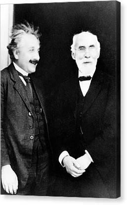 Einstein And Lorentz Canvas Print