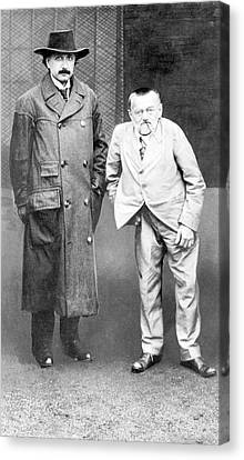 Einstein And Steinmetz Canvas Print by Emilio Segre Visual Archives/american Institute Of Physics