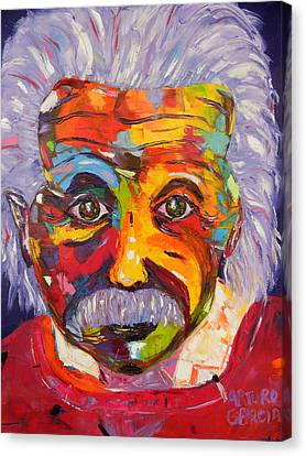 Einstein Canvas Print by Arturo Garcia