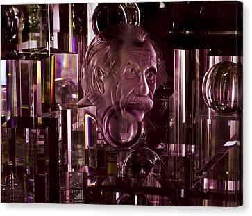 Einstein In Crystal - Purple Canvas Print