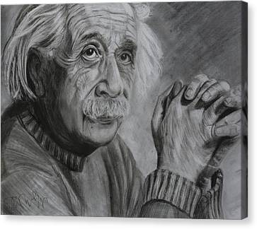 Einstein Portrait  Canvas Print by Megan Wood