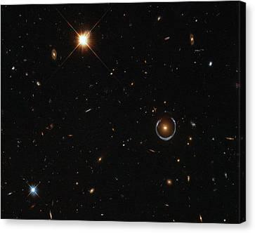 Einstein Ring Around Lrg 3-757 Canvas Print